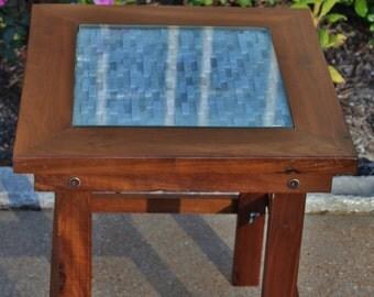 Reclaimed Black Walnut Side Table