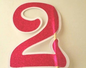 1st birthday cake topper, Pink cake topper, 2nd birhtday topper, 21st birthday deorations, first birthday topper, glitter cake topper