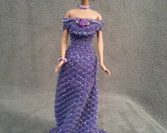 Had crochet barbie dress
