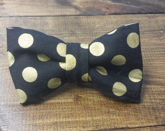 Gold and Black Bowtie