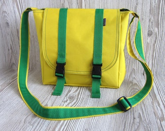 Small messenger bag Yellow crossbody bag Crossbody bag Hipster bag Waterproof shoulder purse School bag Women messenger bag