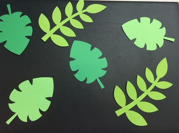 jungle leaf templates to cut out - safari jungle theme leaf green leaves leaf cutouts