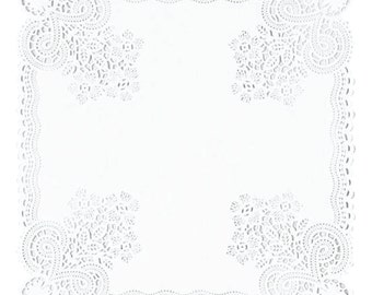10 Inch Square Doilies
