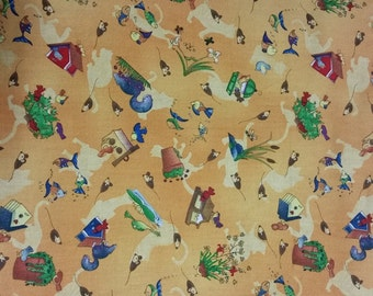 Baby blanket, Country themed blanket, Quilt, Birdhouse Blanket