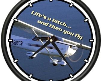 PRIVATE PLANE Wall Clock plane airplane pilot 172 gift