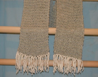 Handmade knitted bamboo scarf
