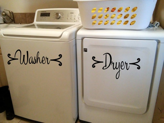 Fancy Washer Amp Dryer Vinyl Decal Sticker Perfect For Your