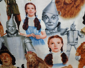 Wizard Of Oz Fabric/ Judy Garland as Dorothy/Cranston /Dorothy/Tin Man/Cowardly Lion