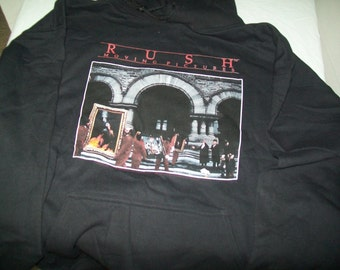 Rush Moving Pictures Pullover Hoodie Size Large