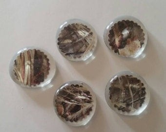 Camo Glass Magnets Set of 5