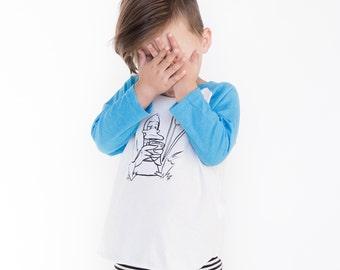 SALE - Kids T-shirt - Raglan - Funny T-shirt - Duck on Phone