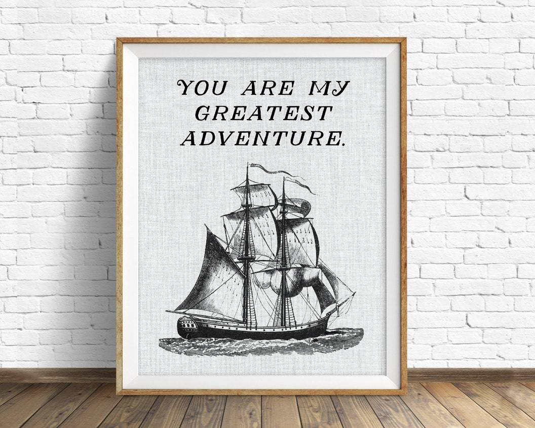 Ship Quotes Quotes Quote Print Inspirational Quote Large Art Wall Art