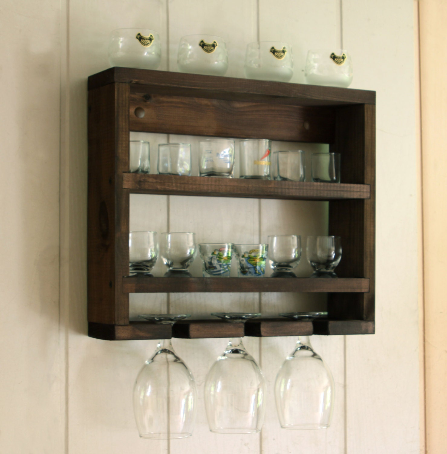 Shot Glass Holder Shot Glass Display Wooden Glass Rack