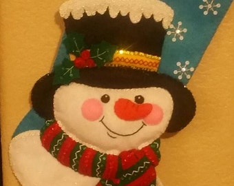 Jack Frost felt stocking! !