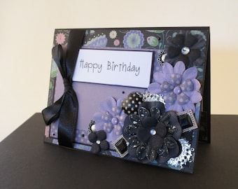 Pretty in Purple Happy Birthday Card