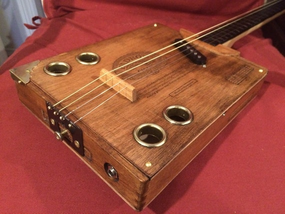 4 string cigar box electric slide guitar by newegyptfolkstrings. Black Bedroom Furniture Sets. Home Design Ideas
