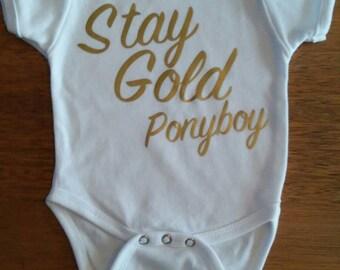 Stay Gold Pony Boy! Custom baby onesie.