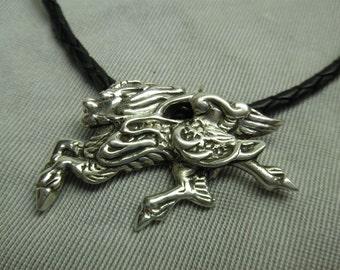 Sterling Silver Kirin (Japanese Unicorn) Pendant