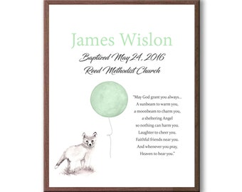 Art For Baby Christening Ceremony, Dedication Day Art Gift, Baptism Gift