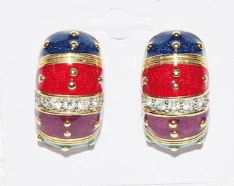 Joan Rivers Earrings Pierced-  Perfect for Mardi Gras - S1477