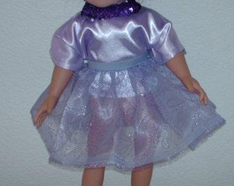 Pretty in purple. American girl party dress.