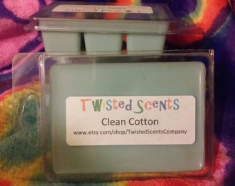 Clean Cotton Melts Homemade, Hand-Poured, Soy Wax