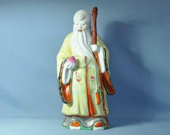 Antique Chinese figurine statue shou star god DSC_00716B