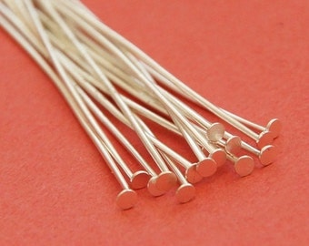 40 riveting pins with flat head 60 mm/Silver colours