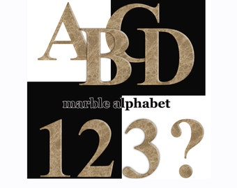 Marble digital alphabet, clipart Digital alphabet  signs marble Monogram Scrapbooking Elements Personal and Commercial Use