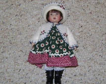 "Handmade 3 Piece FALL or Back-to-School DOLL OUTFIT Fits Kish Riley Doll or other 8"" Dolls!"