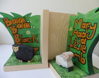 Lamb and sheep Bookends