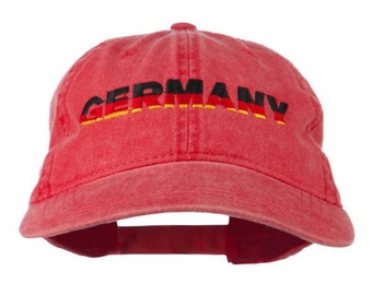 Germany Embroidered Washed Pigment Dyed Cap
