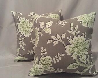 Custom floral decor pillows