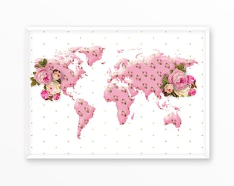 World map, Travel, Adventure, earth, Poster,Print, printable, art,  Typography, Quote, Inspiration Home Decor, Screenprint, wall art, gift