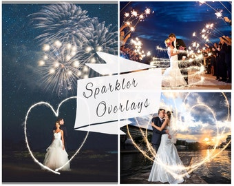 BOGOF, 70 Sparklers Photoshop Overlays,  Photoshop Overlays, Digital Backdrop, Sparklers Overlays, Wedding Sparklers, Instant Download