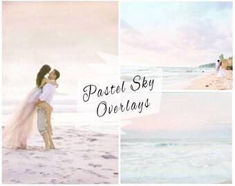 BOGOF, Pastel Sky Photoshop Overlays, Sky Overlays, Pastel Skies, Blue Sky Replacement, Sky Backdrop, Digital Backdrop, Instant Download