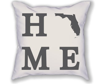 Florida Home State Pillow