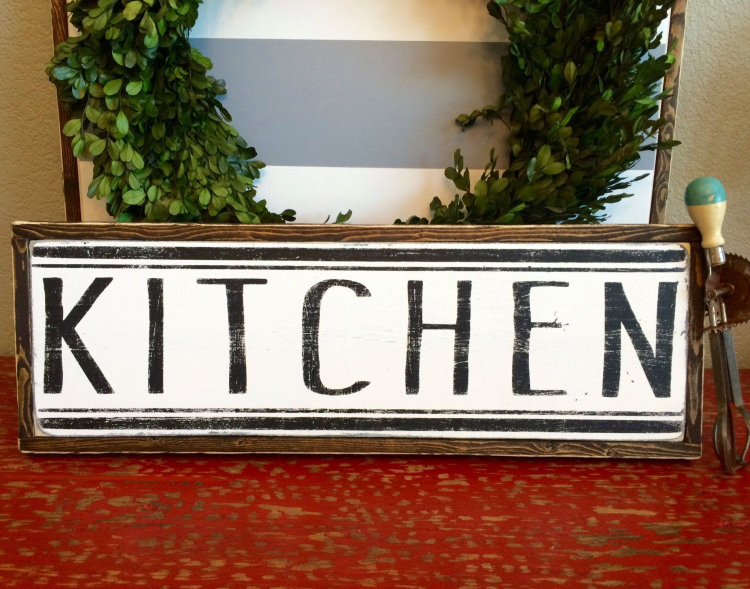 Kitchen sign kitchen decor farmhouse style by eversolettered for Kitchen decoration signs