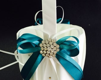 FLOWER GIRL BASKET Teal