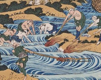 Hokusai Katsushika(葛飾北斎筆) 1760-1849 甲州火振 ―千絵の海― Ukiyo-e  Woodblock  Prints