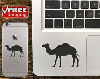 Camel Decal, Camel iPhone Sticker, Camel Macbook Decal, Camel Sticker - FREE Shipping in USA - Choose Color Of Decal