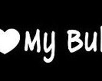 Window Decal - I Love My Bully