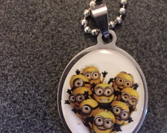 Minion pendant on ball chain