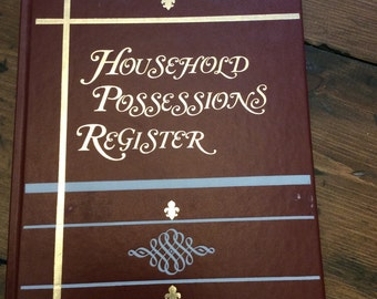 1980 Household Possessions Register Hardcover Book (A638)
