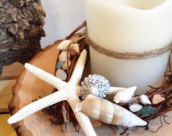 Star fish, starfish decor, starfish decoration, shore house, shore house decor, ocean decoration, shell, candle, sale