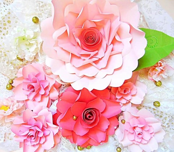 Easy paper flower tutorial with templates svg flower cut files il570xn mightylinksfo