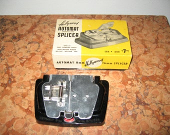 Hollywood Automat Stainless Steel Splicer 1950's  8MM 16MM! #BV