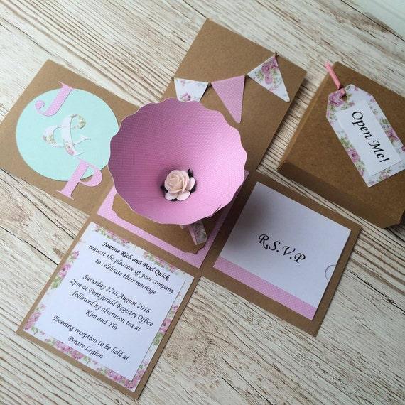 3d vintage afternoon tea themed wedding invitations for 3d wedding invitations glasses