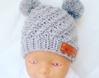 """Hand knitted baby hat """"Leni"""""""