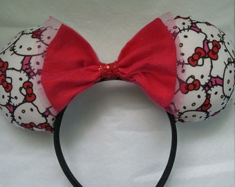 Red Hello Kitty  Ears